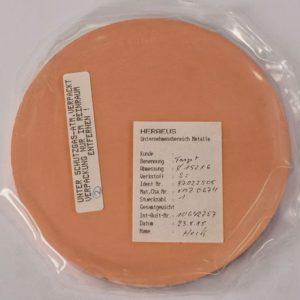 Мишень Si металлизированная медью для пайки размеры: 152x6 мм